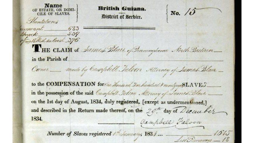 Slavery Compensation: Who Got Paid?