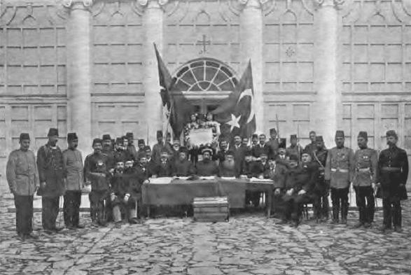 Young Turk Revolution Declaration in 1908