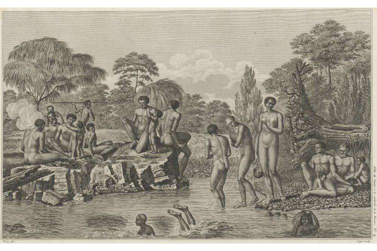 Wauba Debar, an Indigenous swimmer from Tasmania who saved her captors