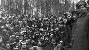 First World War, tableau, men, uniform, woods, fun Fortepan 25063.jpg