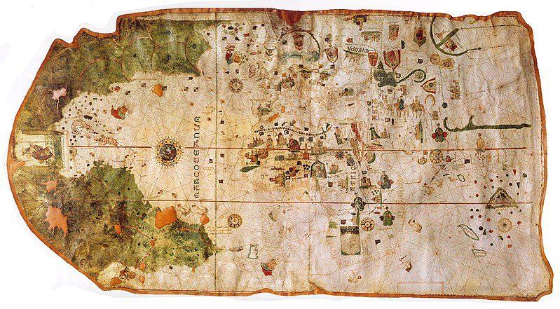 Map of North and South America by Juan de la Cosa, 1500