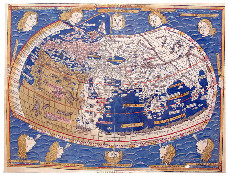 Recreation of Ptolemy's world map by Nicholas Germanus, 1482
