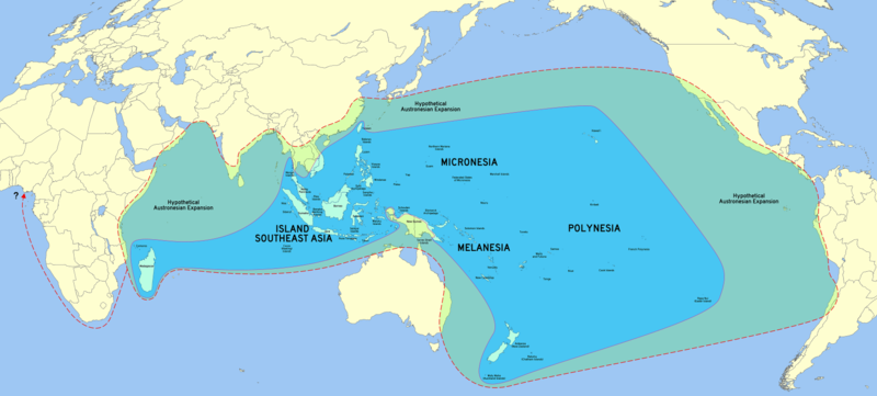 Map of Austronesian Expansion