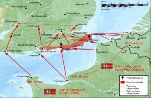 Battle Plan of Operation Sea Lion (Map)