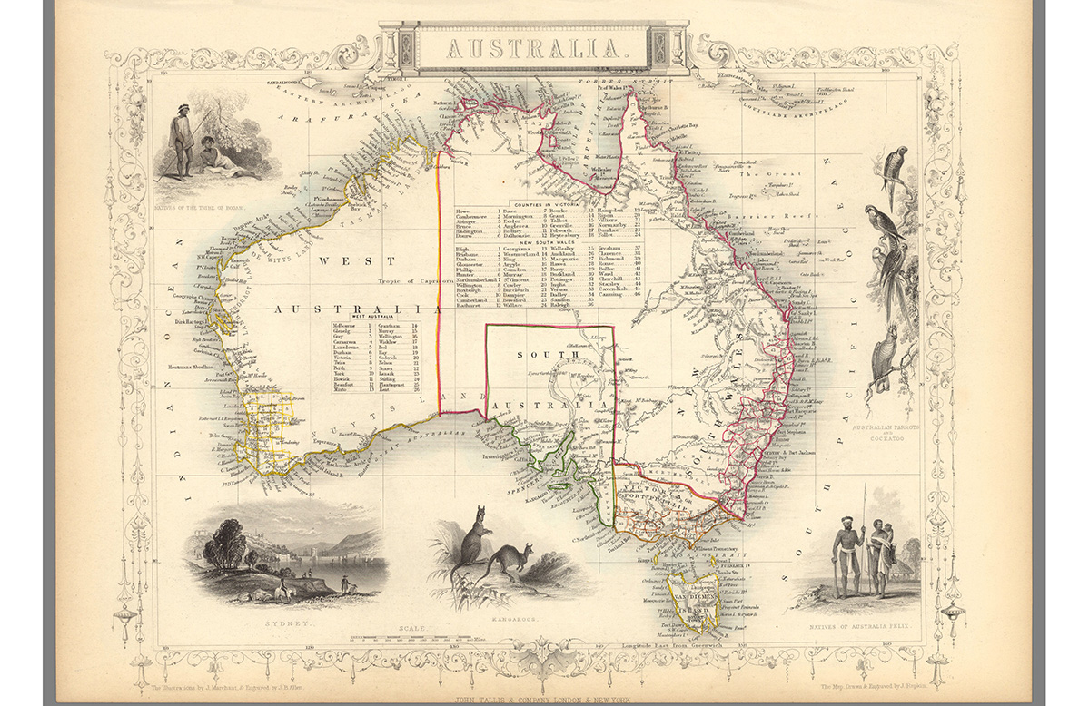 How early Australian settlers drew maps to erase Indigenous people and push ideas of colonial superiority