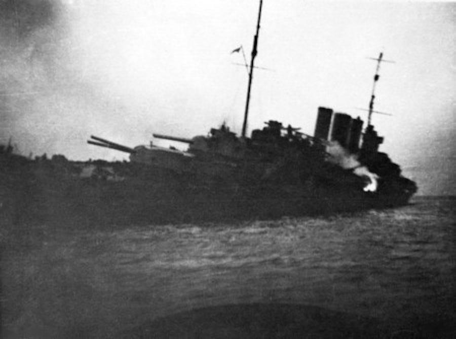 HMAS Canberra Sinking off Savo Island