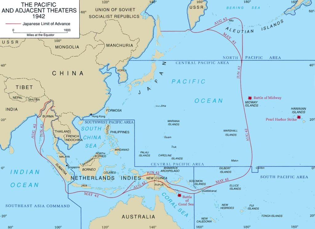 The Pacific Theatre map