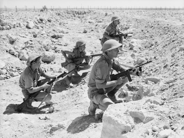 A patrol from the Australian 9th Division during the siege of Tobruk.