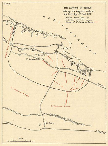 Capture of Tobruk Map Jan 1941
