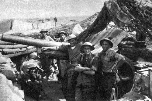 Czechoslovak soldiers at the siege of Tobruk