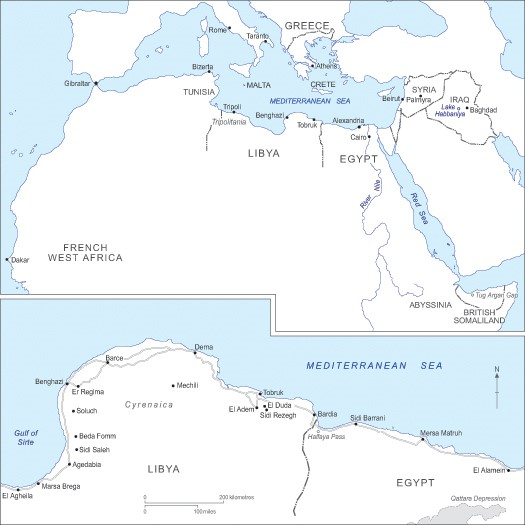 The Mediterranean theatre of operations in 1940-1941.