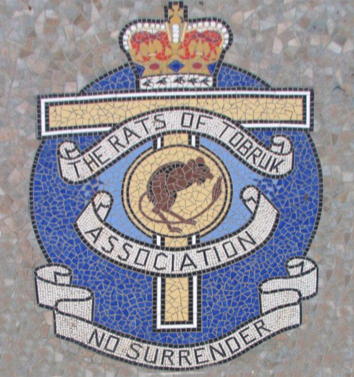 Mosaic at the foot of the Rats of Tobruk Memorial, Queen's Park, Mackay, Queensland.