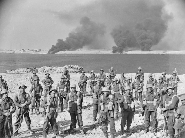 Australian soldiers after the capture of Tobruk.