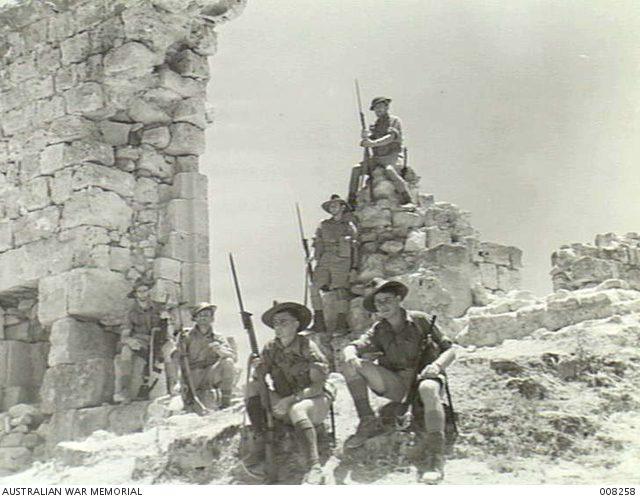 Australian Troops at Sidon, Syria. AWM.