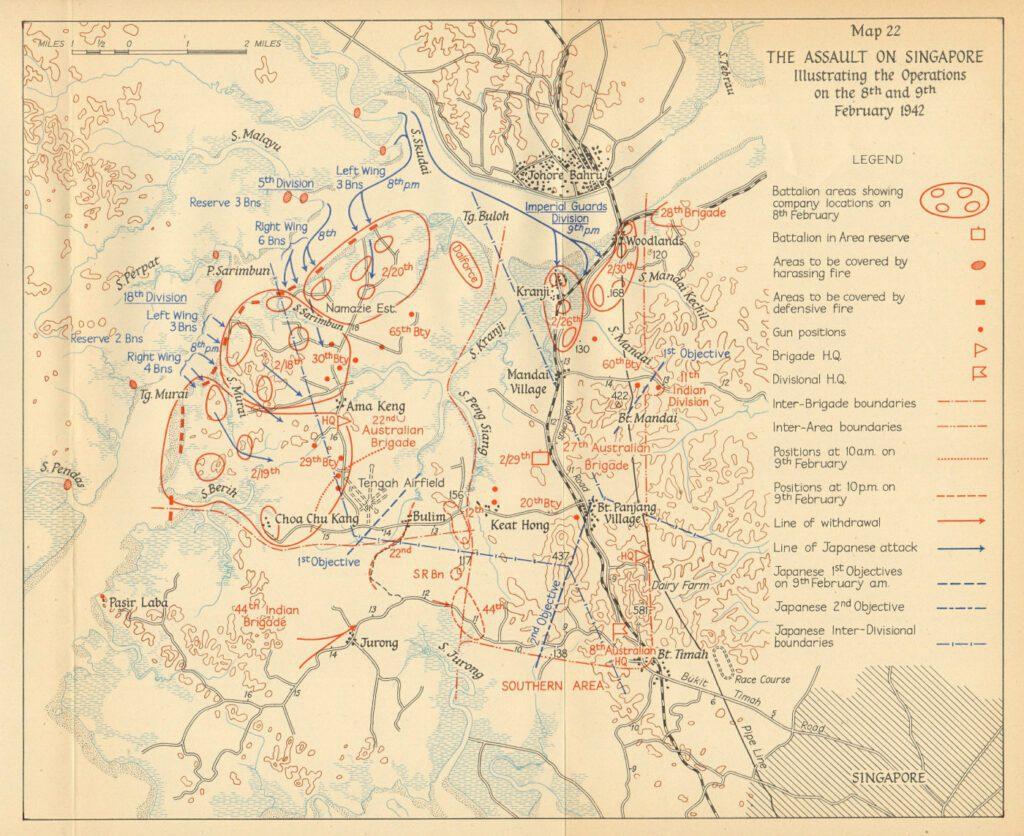 Battle of Singapore Map