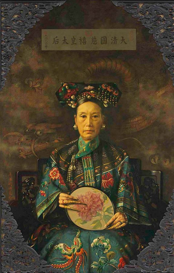 Empress Dowager Cixi,  Portrait by Hubert Vos.
