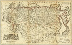 Map of Russia 1730